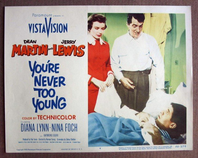 CK45 You're Never Too Young JERRY LEWIS Lobby Card