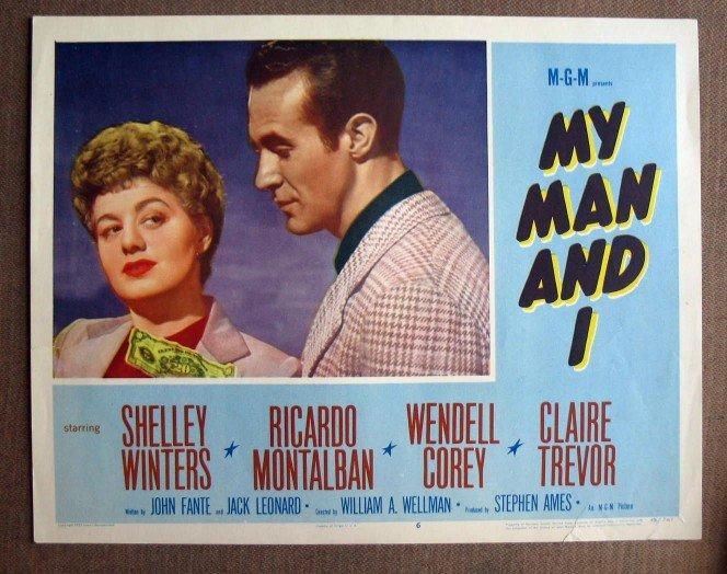 CL35 My Man & I SHELLEY WINTERS Original 1952 Lobby Card