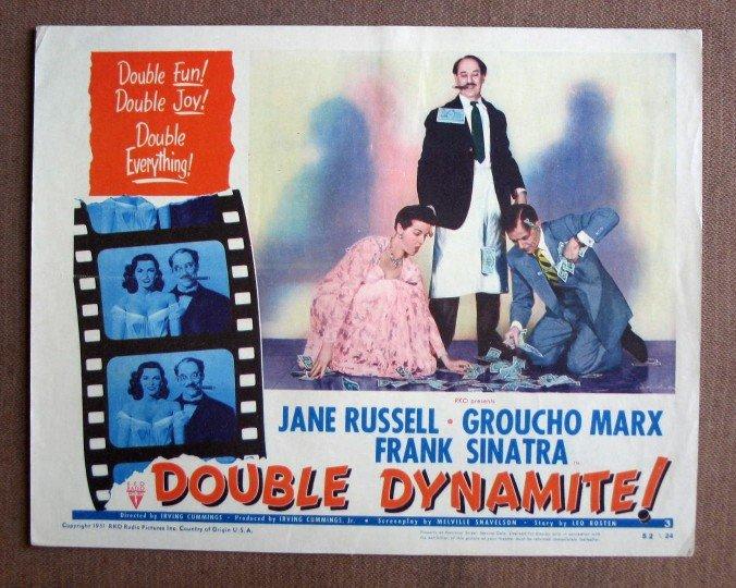 CN11 Double Dynamite GROUCHO MARX & FRANK SINATRA 1952  Lobby Card