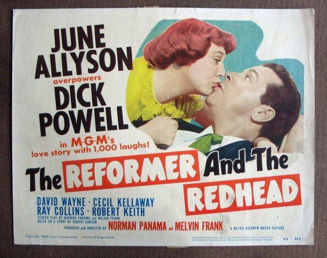CO34 The Reformer & The Redhead JUNE ALLYSON  Original 1950 Title Card