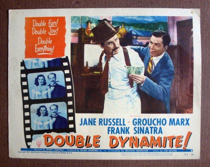CP06 Double Dynamite GROUCHO MARX & SINATRA  Original 1952 Lobby Card