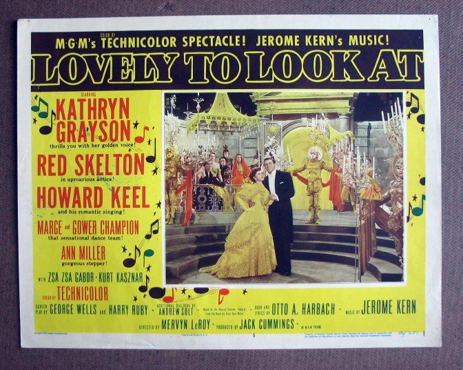 CP24 Lovely To Look At KATHRYN GRAYSON & HOWARD KEEL  Original 1952 Lobby Card