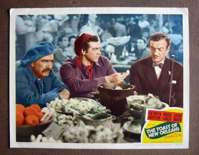 CP46 Toast of New Orleans MARIO LANZA Original 1950 Lobby Card