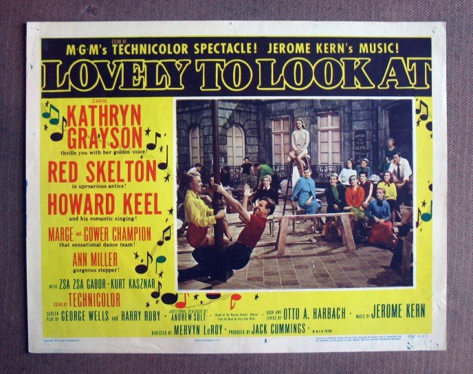 CQ28 Lovely To Look MARGE & GOWER CHAMPION Lobby Card