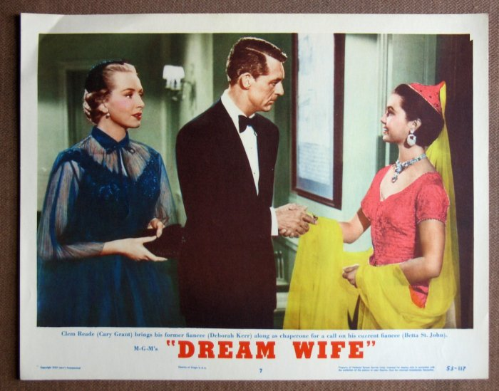 CR16 Dream Wife CARY GRANT & DEBORAH KERR  Original 1953 Lobby Card