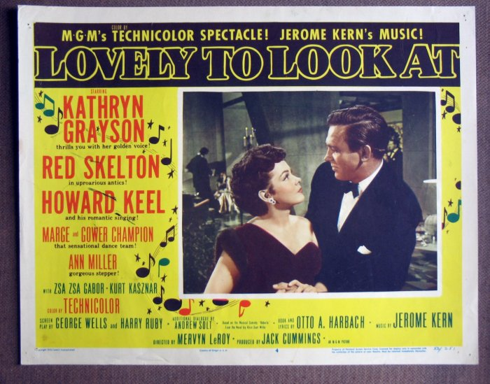 CR32 Lovely To Look At KATHRYN GRAYSON & HOWARD KEEL Lobby Card