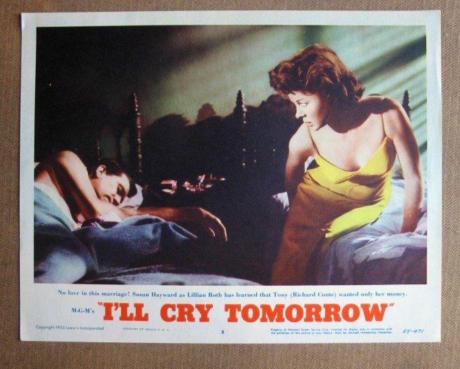 CS23 I'll Cry Tomorrow SUSAN HAYWARD 1955 Lobby Card