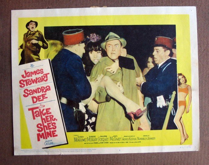 CQ43 Take Her She's Mine JAMES STEWART  Original 1963 Lobby Card