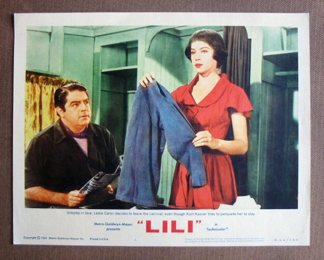 CS32 Lili LESLIE CARON & MEL FERRER   Original Lobby Card