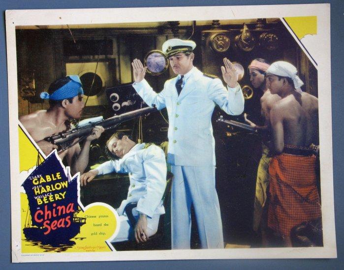 BC13 CHINA SEAS Clark Gable Rare 1935 ORIGINAL  Lobby Card