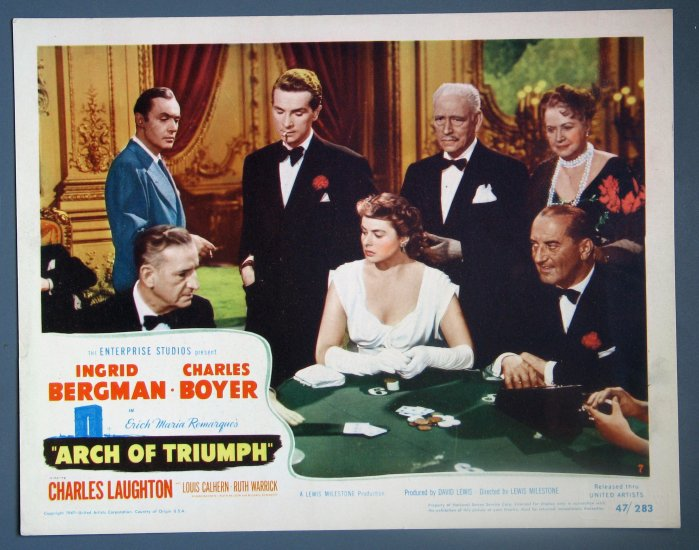 BC08 Arch of Triumph INGRID BERGMAN/BOYER 1947 ORIGINAL Lobby Card