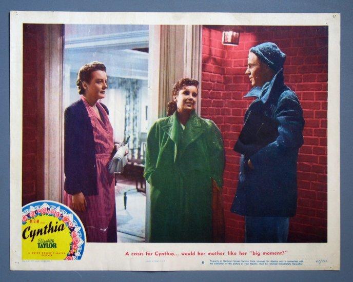 BG25 Cynthia ELIZABETH TAYLOR  ORIGINAL  1947 Lobby Card
