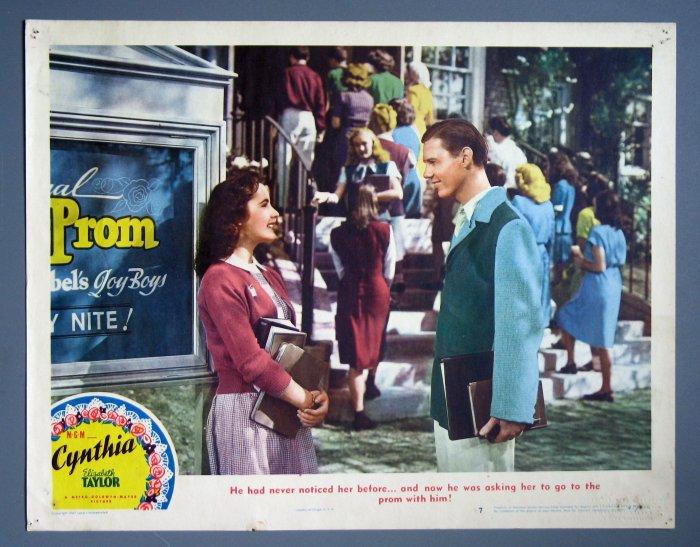 BH25 Cynthia ELIZABETH TAYLOR ORIGINAL 1947 Lobby Card
