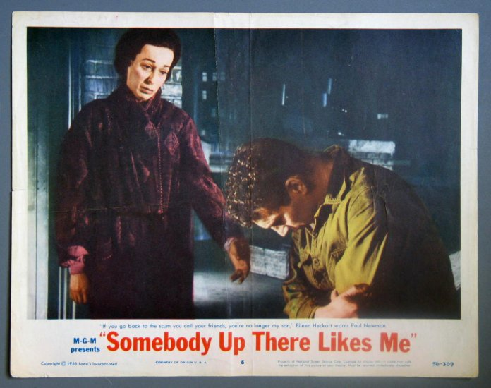 BA40 Somebody Up There Likes Me PAUL NEWMAN ORIGINAL 1956 Lobby Card