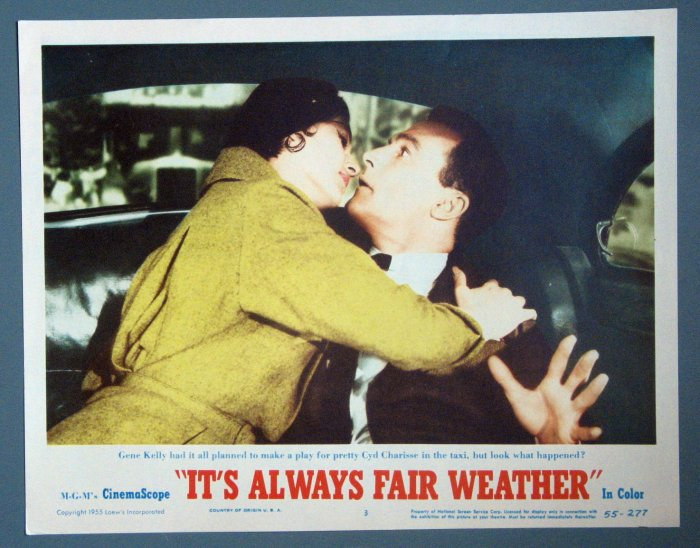 BE32 Always Fair Weather GENE KELLY and CHARISSE Lobby Card