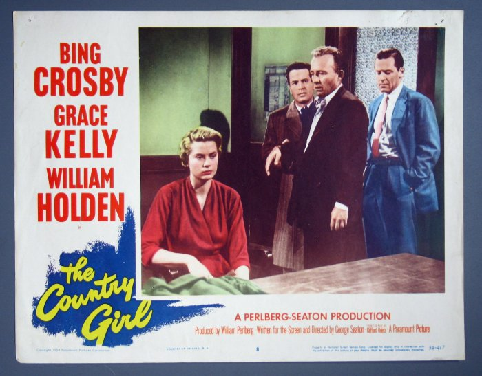 BH23 Country Girl GRACE KELLY and BING CROSBY 1954 Lobby Card