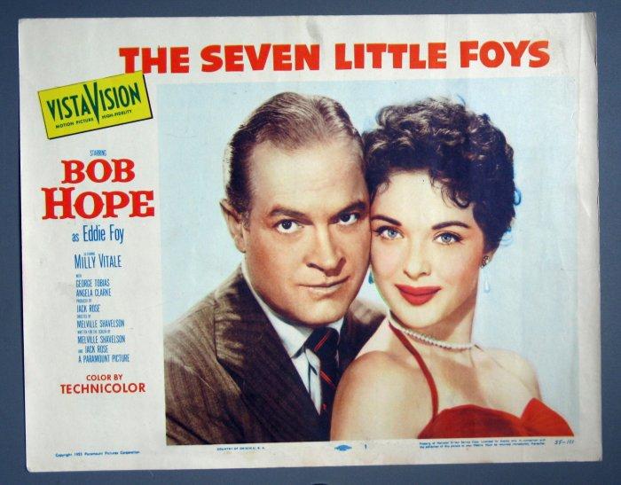 BH44 7 Little Foys BOB HOPE ORIGINAL 1955 PORTRAIT Lobby Card