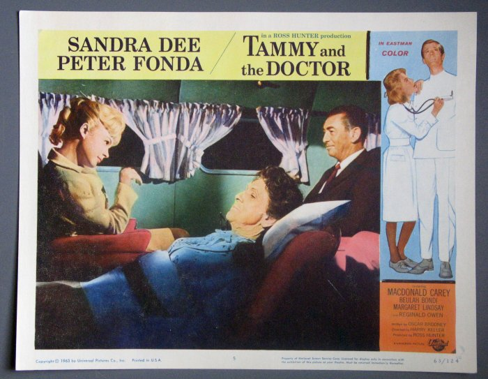 BC49 Tammy And The Doctor SANDRA DEE and PETER FONDA Lobby Card