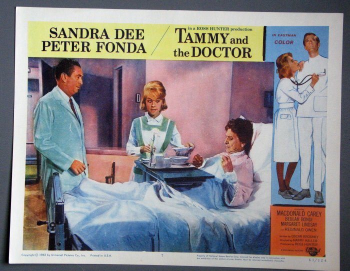 BC50 Tammy And The Doctor SANDRA DEE and PETER FONDA Lobby Card
