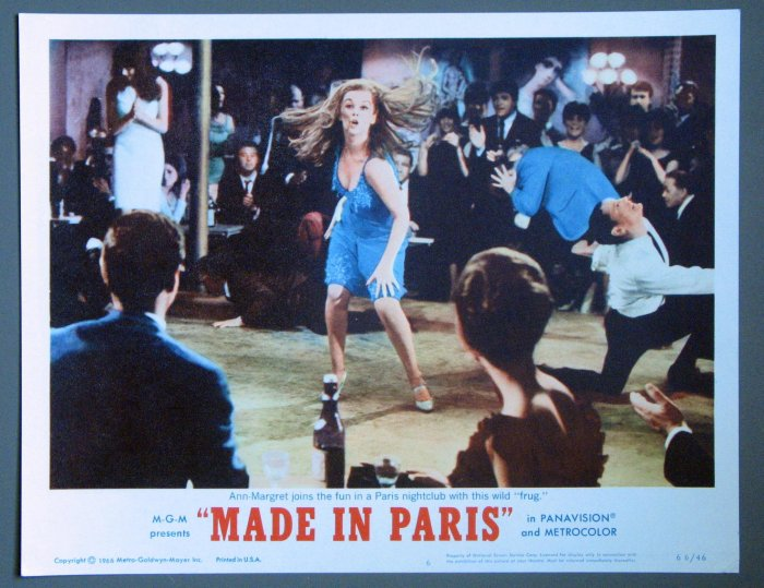 BE36 Made In Paris ANN-MARGARET ORIGINAL 1966 Lobby Card