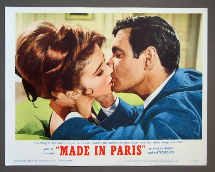 BG39 Made In Paris ANN-MARGARET and LOUIS JOURDAN 1966 Lobby Card