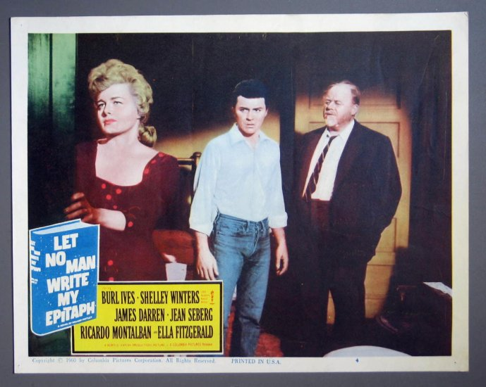 BJ34 Let No Man Write My Epitaph SHELLEY WINTERS Original 1960 Lobby Card