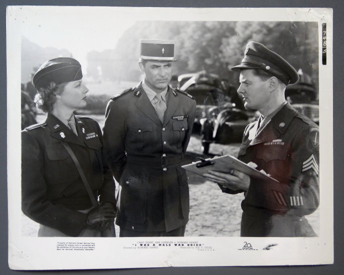 BG07 I Was A Male War Bride CARY GRANT 1949 Studio Still