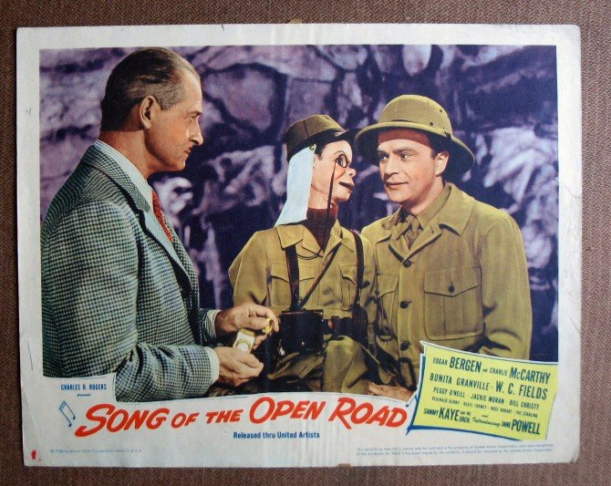BL38 Song Of Open Road EDGAR BERGEN and CHARLIE McCARTHY Lobby Card