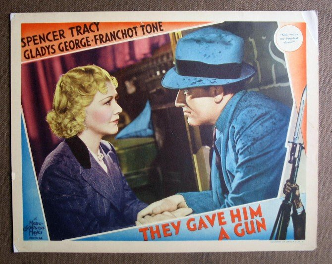 BL44 They Gave Him A Gun SPENCER TRACY 1937 Lobby Card