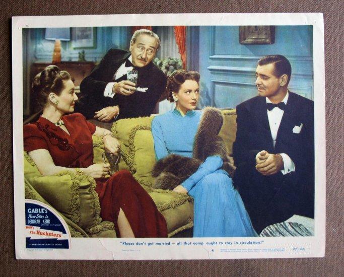 BM24 HUCKSTERS Clark Gable and Deborah Kerr 1947 Lobby Card