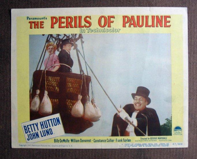BM37 Perils Of Pauline BETTY HUTTON Original 1947 Lobby Card