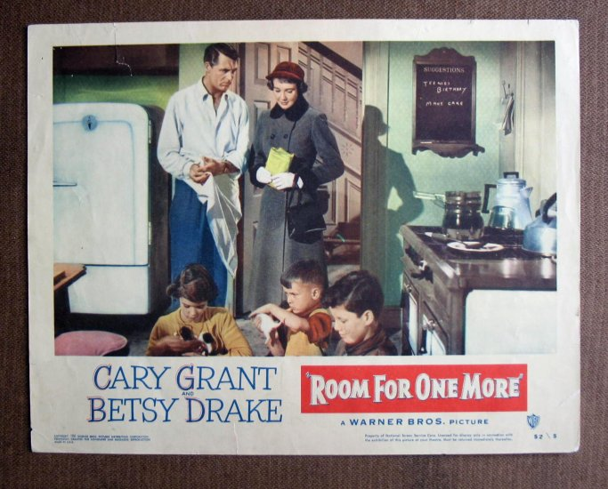 BM39 Room For One More CARY GRANT and DRAKE 1952 Lobby Card