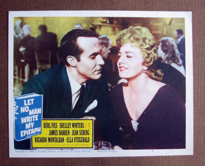 BN39 Let No Man Write My Epitah  SHELLEY WINTERS and RICARDO MONTALBAN Lobby Card