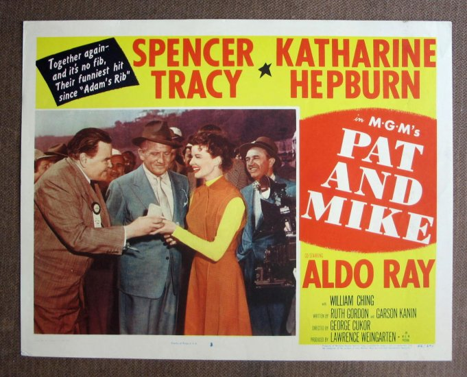 BN47 Pat & Mike KATHARINE HEPBURN and SPENCER TRACY 1952 Lobby Card