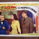 BO21 Ellery Queen Perfect Crime RALPH BELLAMY 1941 Lobby Card