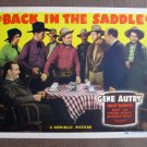 BP14 Back In The Saddle GENE AUTRY 1941 Title Lobby Card