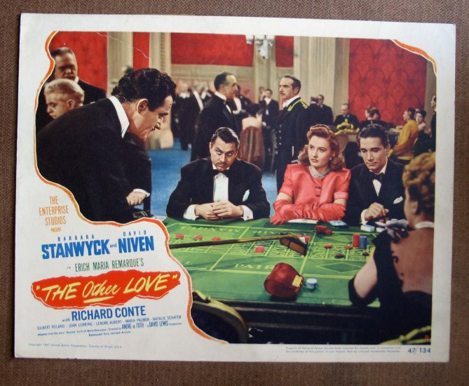 BP39 OTHER LOVE Barbara Stanwyck Original 1947 Lobby Card