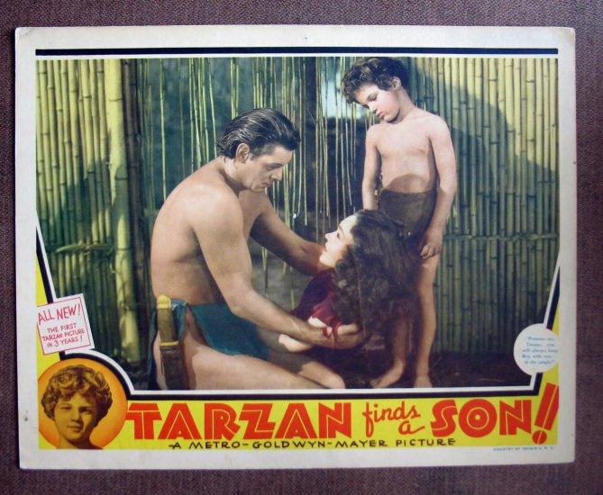 BP46 Tarzan Finds A Son JOHNNY WEISSMULLER 1939 Lobby Card