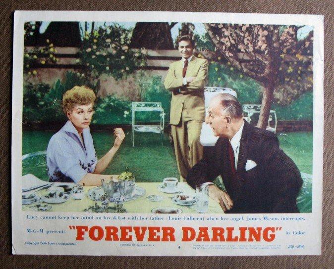 BQ25 Forever Darling LUCILLE BALL Original 1956 Lobby Card