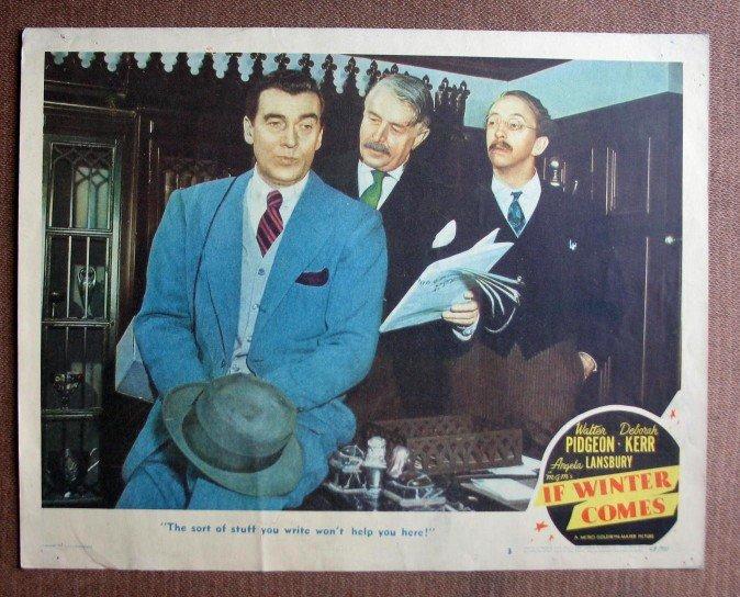 BQ31 If Winter Comes WALTER PIDGEON Original 1948 Lobby Card