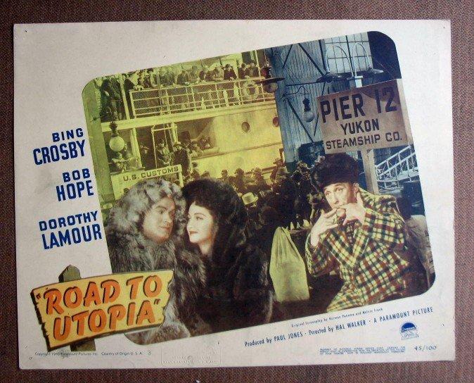 BQ42 Road to Utopia BOB HOPE and BING CROSBY 1945 Lobby Card