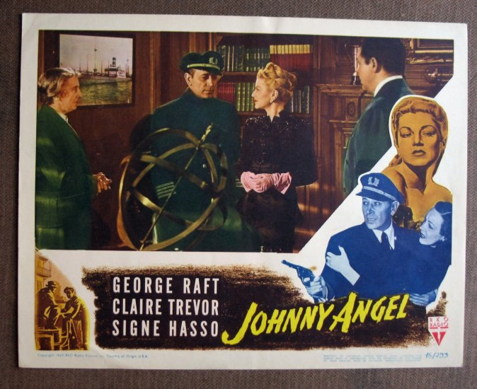 BR31 Johnny Angel GEORGE RAFT and CLAIRE TREVOR Lobby Card