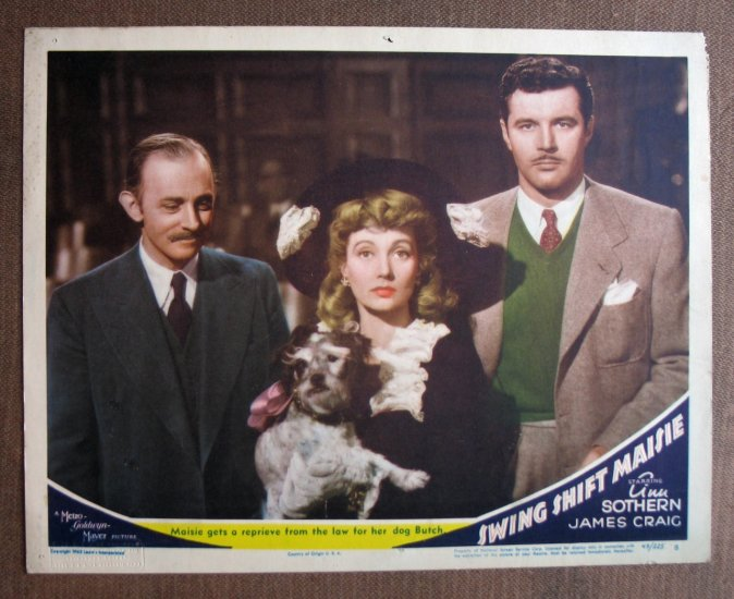 BR43 Swing Shift Maisie ANN SOTHERN Portrait Lobby Card