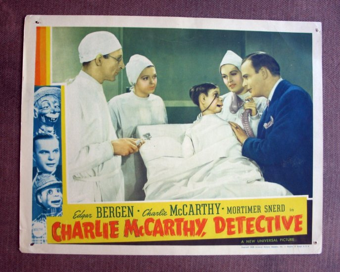 BS18 CHARLIE McCARTHY DETECTIVE Charlie McCarthy and Edgar Bergen Lobby Card