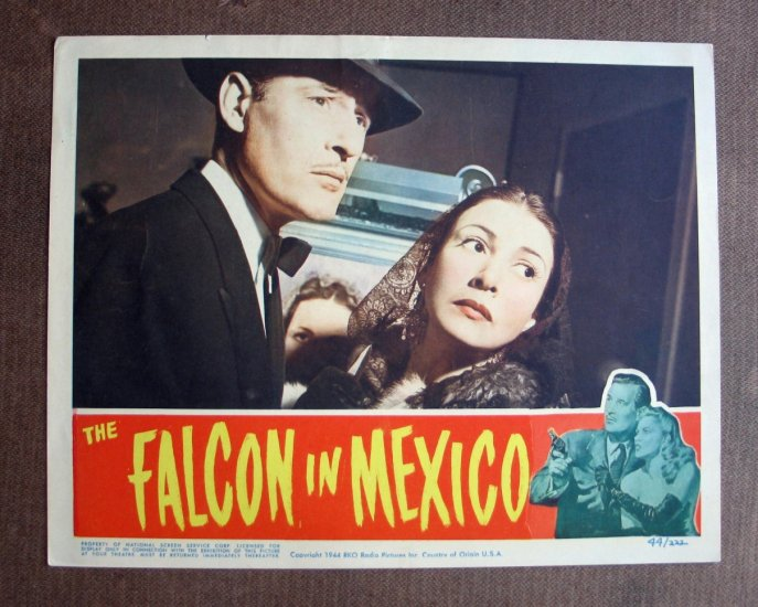 BS26 Falcon IN MEXICO Tom Conway 44 Portrait Lobby Card