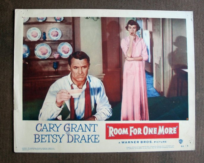 BS44 Room For One More CARY GRANT and BETSY DRAKE 1952 Lobby Card