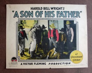 BS46 Son Of His Father WARNER BAXTER 1925 Lobby Card