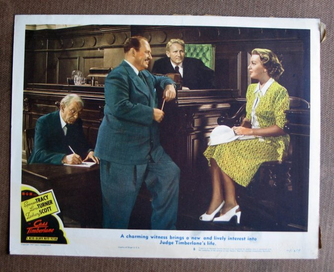 BT18 Cass Timberlane LANA TURNER and SPENCER TRACY 1948 Lobby Card