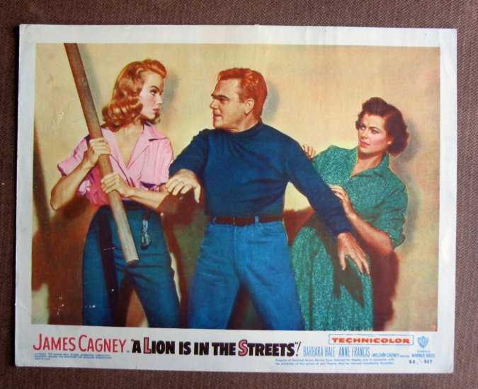 BT28 Lion In Streets JAMES CAGNEY and ANNE FRANCIS Lobby Card