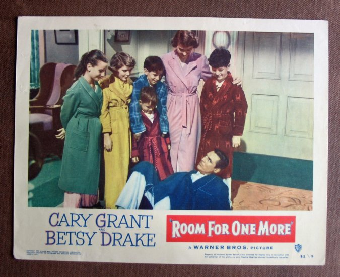 BT36 Room For One More CARY GRANT and BETSY DRAKE 52 Lobby Card